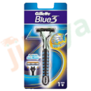 Gillette - Bleu 3 Refillable : Rasoir + 1 Lame